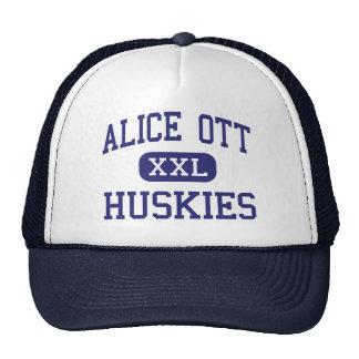 Alice Ott Huskies Middle Portland Oregon Trucker Hat