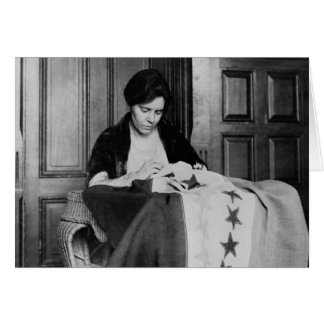 Alice Paul, Sewing Suffrage Flag, 1910s Card