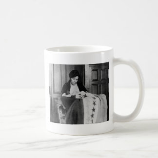 Alice Paul, Sewing Suffrage Flag, 1910s Coffee Mug
