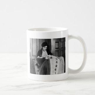 Alice Paul, Sewing Suffrage Flag, 1910s Coffee Mug