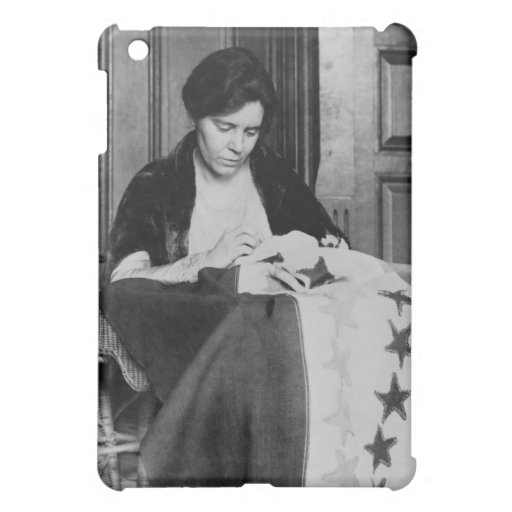 Alice Paul, Sewing Suffrage Flag, 1910s iPad Mini Covers