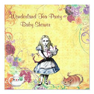 Alice & Pig Baby Wonderland Tea Party Baby Shower Invitation