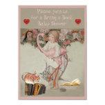 Alice & Pink Flamingo Bring a Book Baby Shower Invite