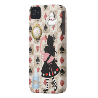 Alice & Pink Flamingo iPhone 4 Case
