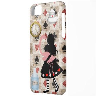 Alice & Pink Flamingo iPhone 5 Case