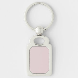Alice Pink in an English Country Garden Silver-Colored Rectangular Metal Keychain