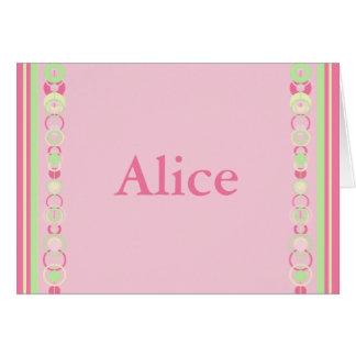Alice Pink Modern Circles Card