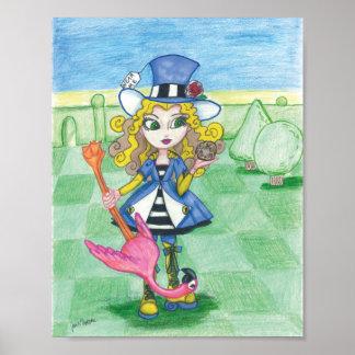 Alice Plays Croquet Poster