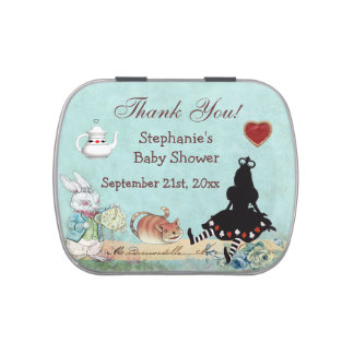 Alice Princess Baby Shower Thank You Favor Jelly Belly Tin
