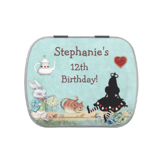 Alice Princess Birthday Party Favor Jelly Belly Candy Tins