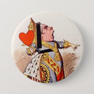 "Alice-Queen Of Hearts 2 - 3"" Button"