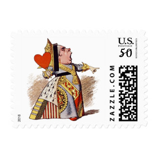 Alice - Queen Of Hearts - Postage Stamp