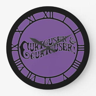 Alice Quote Curiouser And Curiouser Large Clock