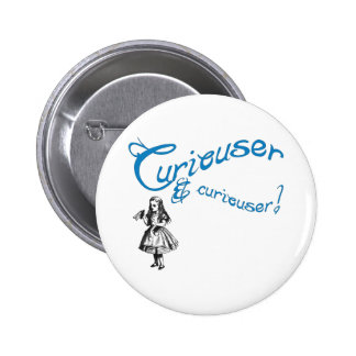 Alice Quote with Image Pinback Button