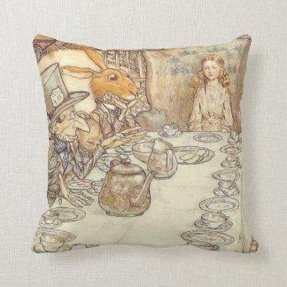 Alice Rabbit & Hatter Pillow Cushion