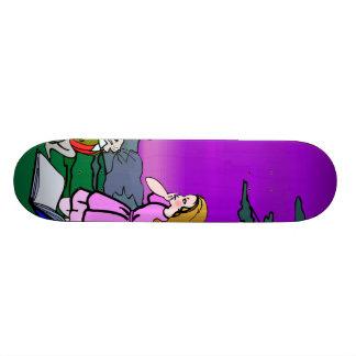 Alice & Rabbit In Wonderland Forest Skateboard