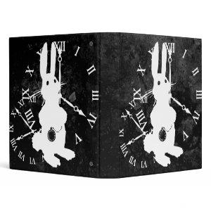 Alice Rabbit Late Dark Binder binder