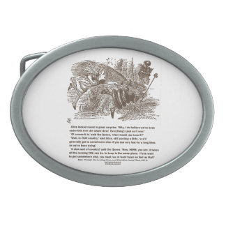 Alice Red Queen All The Running You Can Do Stay In Oval Belt Buckle