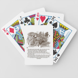 Alice Red Queen All The Running You Can Do Stay In Poker Deck
