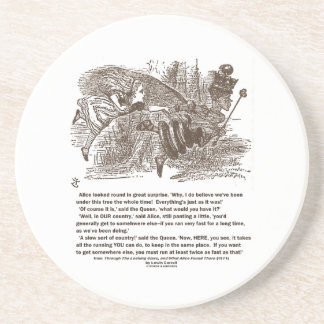 Alice Red Queen Running To Stay In Same Place Drink Coasters