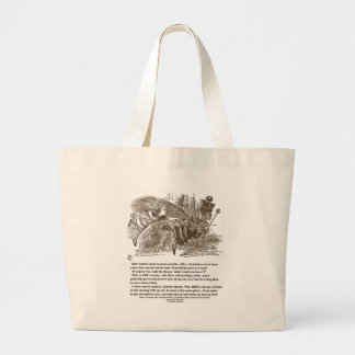 Alice Red Queen Running To Stay In Same Place Large Tote Bag