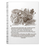 Alice Red Queen Running To Stay In Same Place Spiral Notebooks