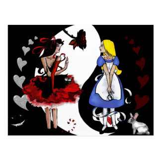 Alice Reflected Postcard