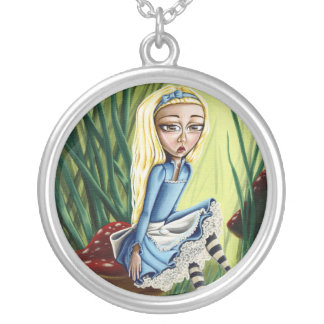 Alice Resting On A Mushroom Necklace