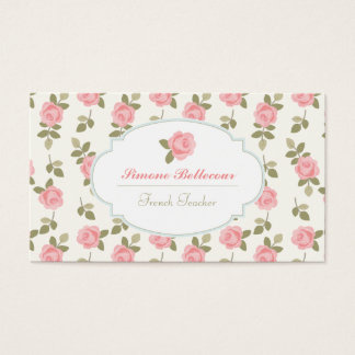 Alice Romantic Vintage Roses Business Card