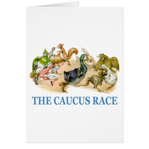 Alice runs in the caucus race card