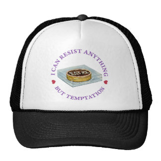 """Alice says, """"I can resist anything but temptation"""" Trucker Hat"""