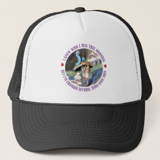 ALICE SAYS, I KNEW HOW I WAS THIS MORNING TRUCKER HAT