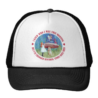 ALICE SAYS, I KNEW WHO I WAS THIS MORNING TRUCKER HAT