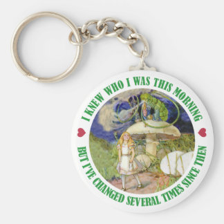 ALICE SAYS, I KNEW WHO I WAS THIS MORNING KEYCHAIN