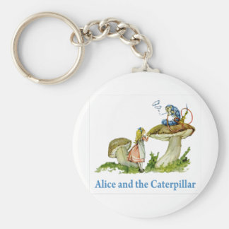 Alice Seeks Advice From The Caterpillar Keychain