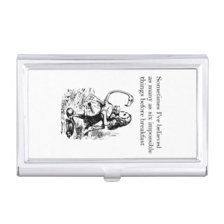 Alice, Six Impossible Things Business Card Case