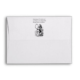 Alice, Six Impossible Things Envelope