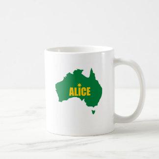 Alice Springs Green and Gold Map Coffee Mug