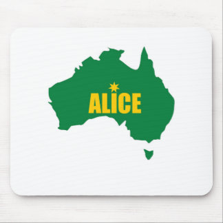 Alice Springs Green and Gold Map Mouse Pads