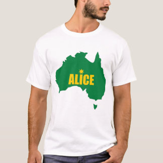 Alice Springs Green and Gold Map T-Shirt