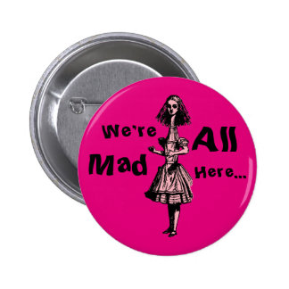 Alice Stretched in Wonderland Button