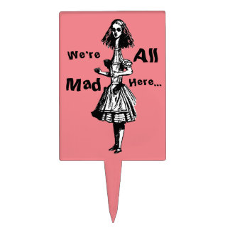 Alice Stretched in Wonderland Cake Topper