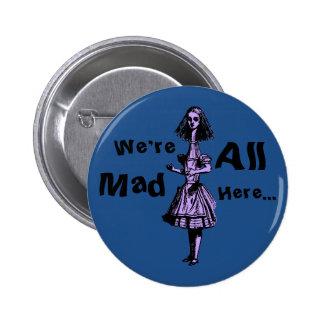 Alice Stretched in Wonderland Pinback Button