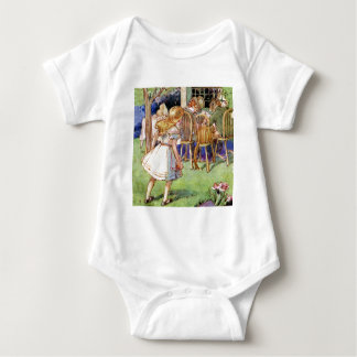 Alice Stumbles Upon The Mad Hatter's Tea Party Baby Bodysuit