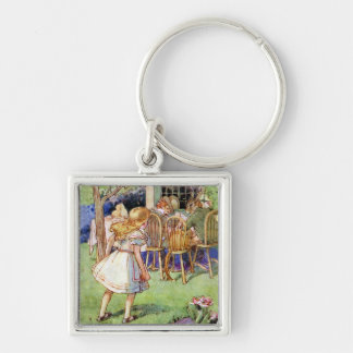 Alice Stumbles Upon The Mad Hatter's Tea Party Keychain