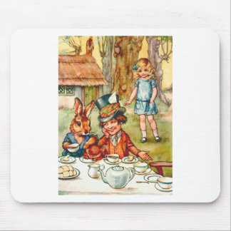 Alice Stumbles upon the Mad Hatter's Tea Party Mouse Pad