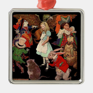 Alice Surrounded By Friends Metal Ornament