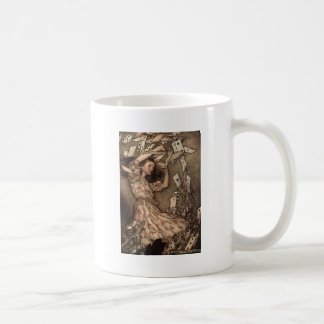 Alice Swarmed by Playing Cards Coffee Mug