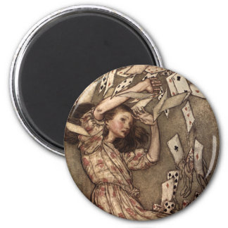 Alice Swarmed by Playing Cards Magnet