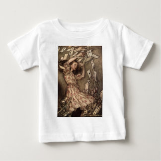 Alice Swarmed by Playing Cards T Shirt